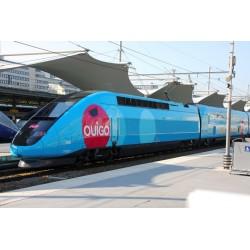 TGV Duplex OUIGO Design 3tlg. Ergänzung 1 m. Barwagen