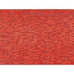 Dekorpappen Ziegelmauer rot