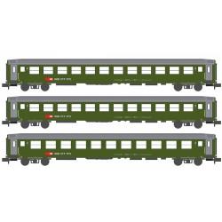 K 23012 set de 3 voitures 2ème classe SBB