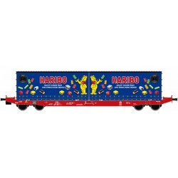 Wagon porte-containers SGKKMS698 DB mit 2x Jumbo Wechselpritsche HARIBO