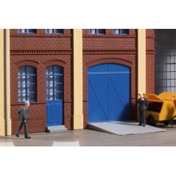 80255 Tore und Türen blau, Stufen, Rampen