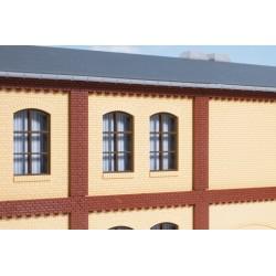 80416 Säulen Obergeschoss und Ziegelfriese rot