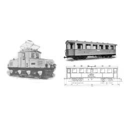 H43102 Zugspitzbahn AEG Tal Lok / 2 Wagen HOe