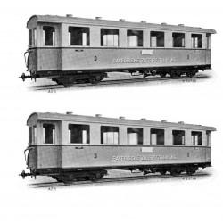 H43103 Zugspitzbahn 2 Wagen HOe