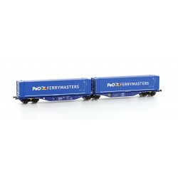H70507 Containerwagen Sggmrs 90 P&O Ferrymaster