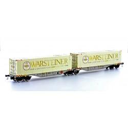 58866 SGGMRSS 90' AAE mit 2x 40' Container WARSTEINER