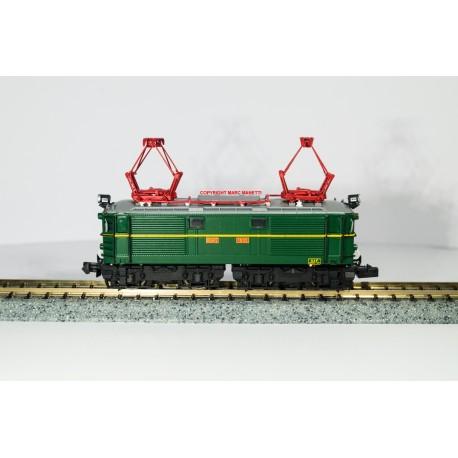 H66-85353 Locomotive électrique E 1002 vert UIC avec plaques RENFE
