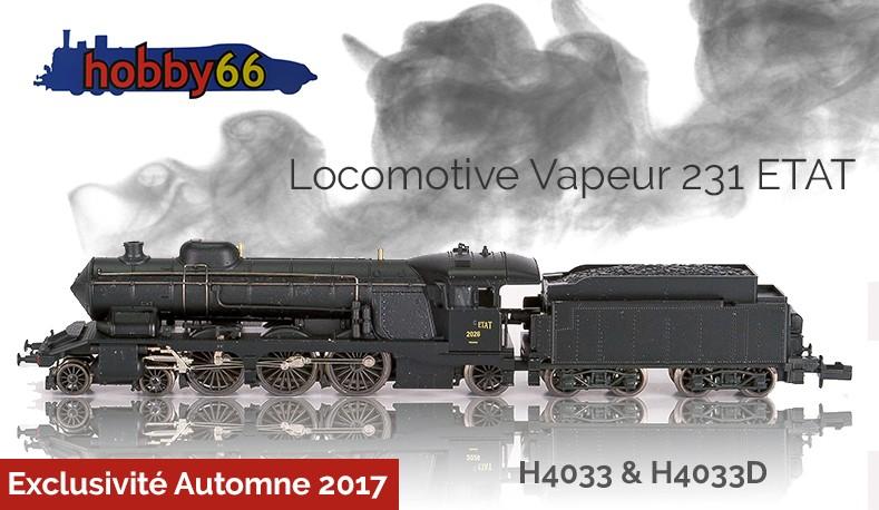 Locomotive Vapeur 231 ETAT h4033