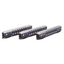 H22059 DoStowg. DB Ep.IIIa bl. 3tlg. 2x3 Kl.+Restwg. 26,4m