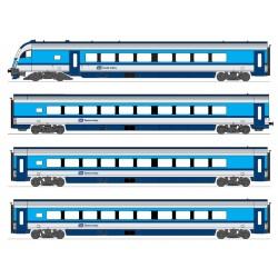 H25218 CZ Railjet 4-tlg. Steuerwg. 2x 2. Kl. Endwg.